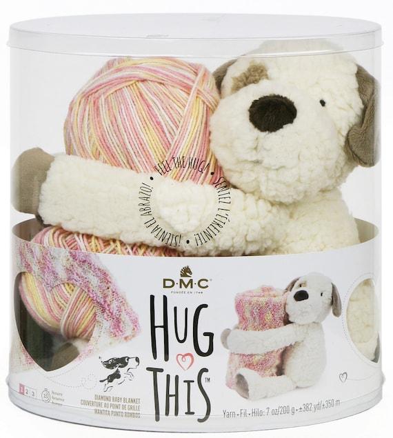 Knit Pattern Kit Dmc Hug This Puppy Stuffed Animal Baby Etsy