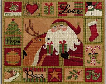 Counted Cross Stitch Pattern, All the Things, Christmas, Folk Art, Country Decor, Primitive Decor, Teresa Kogut, PATTERN ONLY
