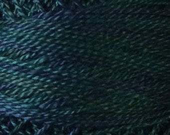 Valdani Thread, Size 12, O536, Valdani Perle Cotton, Dark Spruce, Embroidery Thread, Punch Needle, Embroidery, Penny Rugs, Sewing Accessory
