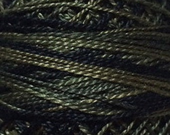 Valdani Thread, Size 8, O540, Perle Cotton, Black Olives, Punch Needle, Embroidery, Penny Rugs, Primitive Stitching, Sewing Accessory