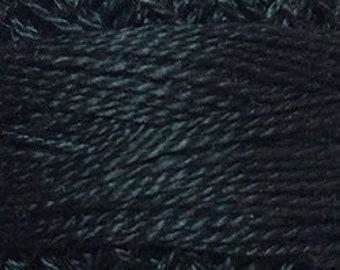 Valdani Size 12, 8113, Valdani Perle Cotton, Black Dark, Punch Needle, Embroidery, Penny Rugs, Primitive Stitching, Sewing Accessory,