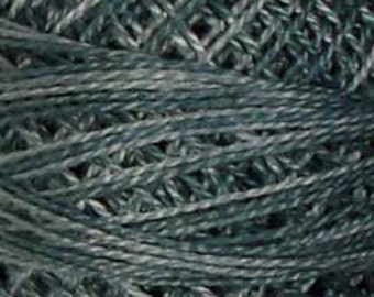 Valdani Thread, Size 12, O31, Valdani Perle Cotton, Tealish Blue, Embroidery Thread, Punch Needle, Embroidery, Penny Rugs, Sewing Accessory