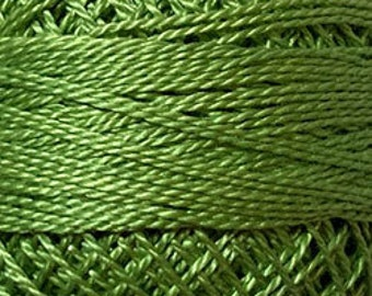 Valdani Thread, Size 8, 19 Deep Lime, Perle Cotton, Punch Needle, Embroidery, Penny Rugs, Wool Applique, Hardanger, Hardanger, Tatting