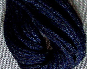 Valdani, 6 Strand Cotton Floss, 873, Dusty Blue Dark, Embroidery Floss, Punch Needle, Embroidery, Penny Rugs, Sewing Accessory