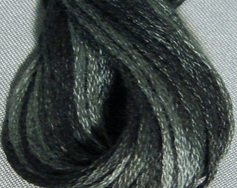 Valdani, 6 Strand Cotton Floss, H211, Blue Black, Embroidery Floss, Variegated Floss, Hand Dyed Floss, Wool Applique, Punch Needle