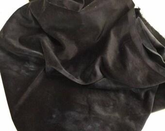 Velveteen, Pepper, Black Velveteen, Hand Dyed Velveteen, Cotton Velveteen, Finishing Fabric, Velveteen Fabric, Lady Dot Creates