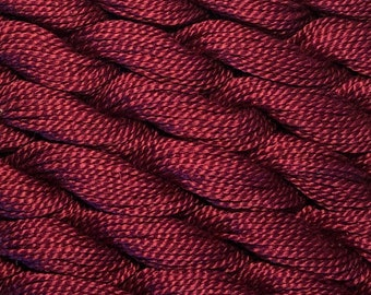 DMC Pearl Cotton, Size 5, Very Dark Mauve, 3685, Perle Cotton, Embroidery Thread, Punch Needle, Penny Rugs, Primitive Stitching