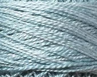 Valdani Thread, Size 8, O558, Blue Suave, Perle Cotton, Embroidery Thread, Variegated Thread, Hand Dyed Thread, Wool Applique, Punch Needle