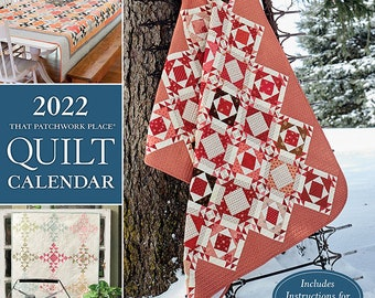 Calendar, 2022 Quilt Calendar, Monthly Calendar, Quilt Patterns, Monthly Quilts, Pattern Pullout, Quilt Projects, That Patchwork Place