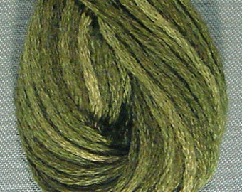 Valdani, 6 Strand Cotton Floss, O575, Crispy Leaf, Embroidery Floss , Punch Needle, Embroidery, Penny Rugs, Sewing Accessory