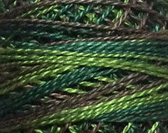 Valdani Thread, Size 8, M82, Perle Cotton, Backyard Greenfield, Punch Needle, Embroidery, Penny Rugs, Primitive Stitching, Sewing Accessory