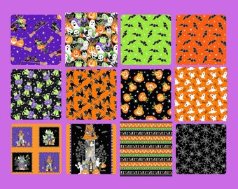 Quilt Fabric, Here We Glow, Glow in the Dark, Halloween Fabric, Skeletons, Quilters Cotton Fabric, Delphine Cubitt, Henry Glass Fabrics