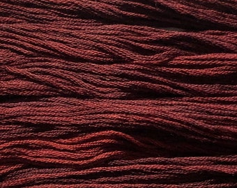 Gentle Art, Simply Shaker Threads, Cherry Bark, #1120, 10 YARD Skein, Embroidery Floss, Counted Cross Stitch, Hand Embroidery Thread
