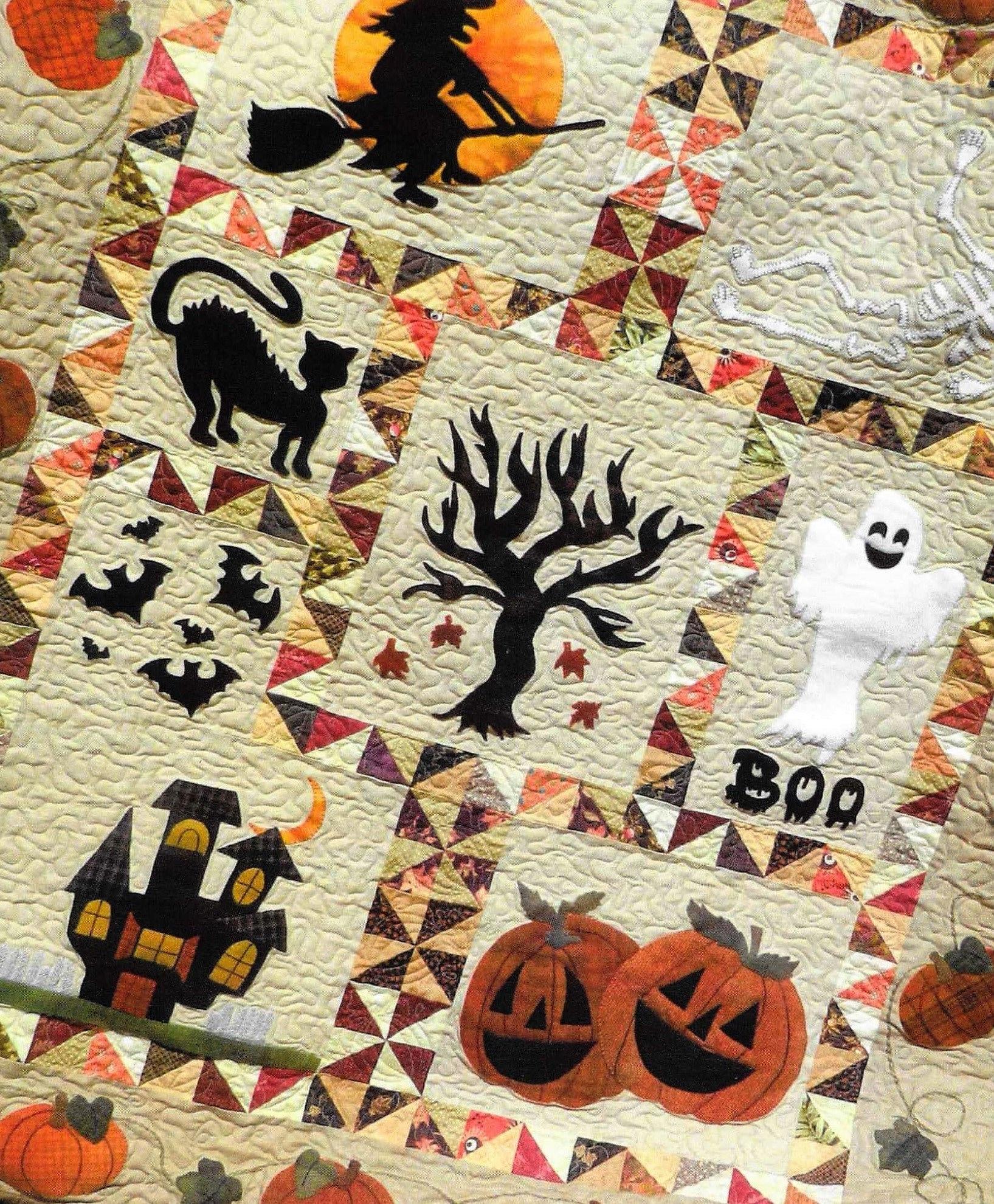 Quilt Pattern, Spooky Hollow, Halloween Decor, Halloween