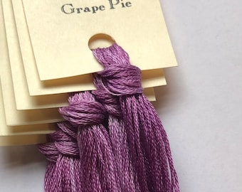Classic Colorworks, Grape Pie, CCT-016, 5 YARD Skein, Hand Dyed Cotton, Embroidery Floss, Counted Cross Stitch, Hand Embroidery