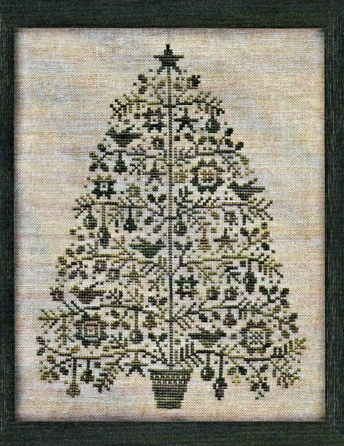 Counted Cross Stitch Pattern Oh Christmas Tree Primitive