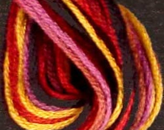 Valdani, 6 Strand Cotton Floss, M34, Jubilation, Embroidery Floss, Variegated Floss, Hand Dyed Floss, Wool Applique, Punch Needle
