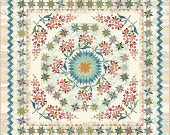 Quilt Pattern, The Seamstress, Floral Quilt, Scrap Quilt, Applique Flowers, Bed Quilt, Laundry Basket Quilts, Edyta Sitar, PATTERN ONLY