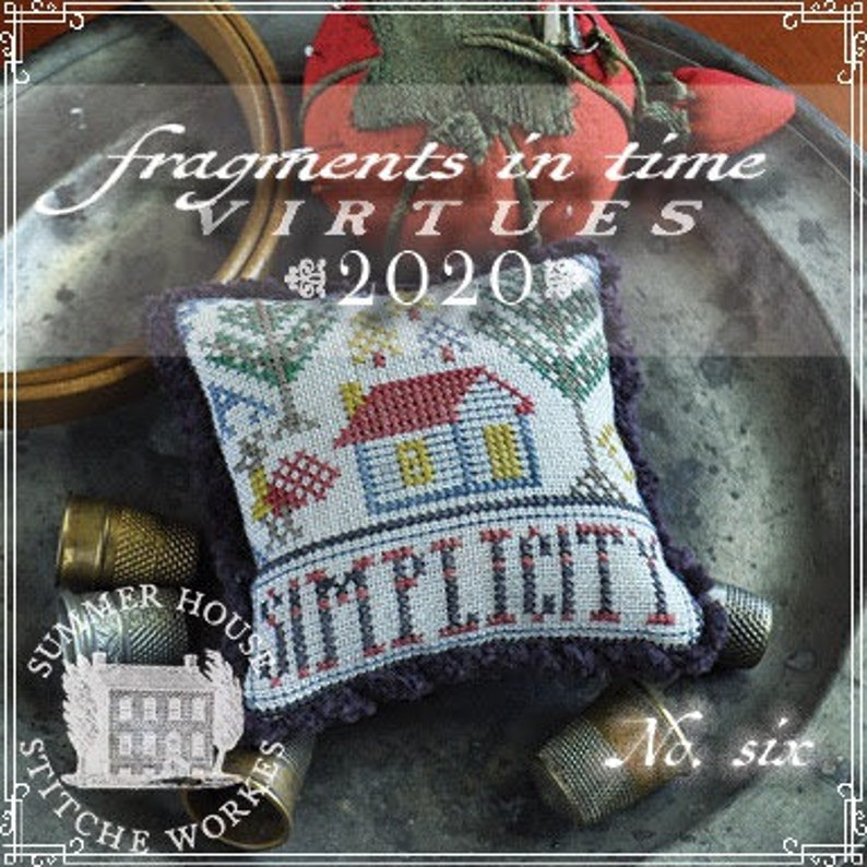 Counted Cross Stitch Pattern Fragments in Time 2020 No 6 image 0
