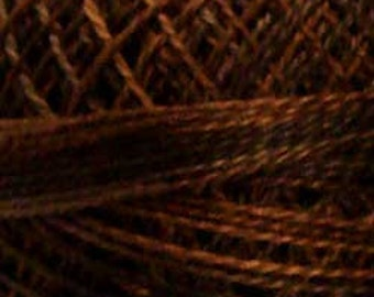 Valdani Thread, Size 8, P12, Valdani Perle Cotton, Browns, Punch Needle, Embroidery, Penny Rugs, Primitive Stitching, Sewing Accessory