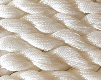 DMC Pearl Cotton, Size 5, DMC Blanc, White, Embroidery Thread, Punch Needle, Penny Rugs, Primitive Stitching, Sewing Accessory