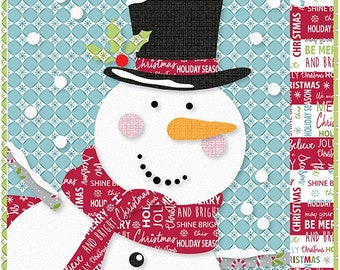 Quilt Pattern, Jolly, Snowman Quilts, Christmas Decor, Christmas Quilt, Holiday Quilt, Cherry Guidry, Cherry Blossoms Quilts, PATTERN ONLY