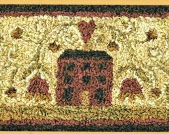 Punch Needle Pattern, Divided House, Primitive Decor, Whimsical, Folk Art, Saltbox, Teresa Kogut, Punch Needle Embroidery, PATTERN ONLY
