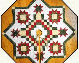 Quilt Pattern, Irish Snowflake, Christmas Tree Skirt, Christmas Decor, Star Snowflake, Patchwork Quilt, The Quilt Branch, PATTERN ONLY