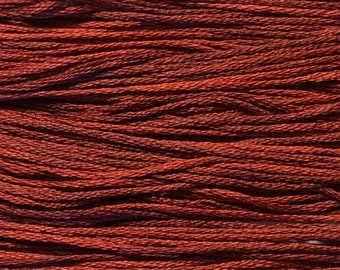 Weeks Dye Works, Cayenne, WDW-2259, 5 YARD Skein, Hand Dyed Cotton, Embroidery Floss, Counted Cross Stitch, Embroidery, PunchNeedle