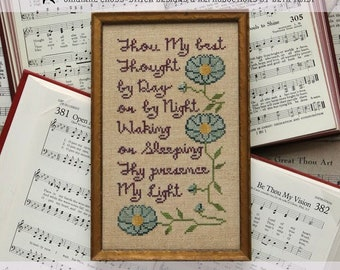 Counted Cross Stitch Pattern, Sunday Stitches, Be Thou My Vision, Inspirational, Beth Twist, Heartstring Samplery, PATTERN ONLY