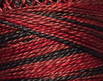 Valdani Thread, Size 12, O523, Valdani Perle Cotton, Cherry Basket, Embroidery Thread, Needlework, Sewing Accessory, Penny Rugs, Variegated