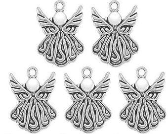 Charm, Tibetan Angel, Guardian Angel, Angel Charm, Silver Tone Angel, Charm Embellishment, Pendant Charm, Angel Pendant Charm, Angel Wings