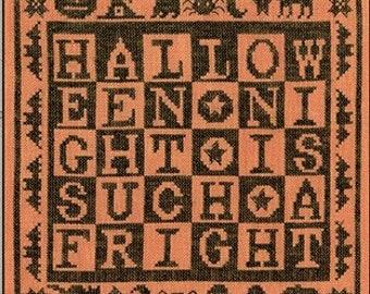 Counted Cross Stitch Pattern, Such a Fright, Halloween Decor, Black Cats, Bats, Primitive Decor, Teresa Kogut, PATTERN ONLY
