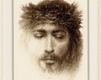 Counted Cross Stitch Pattern, Jesus, Cross Stitch, Inspirational, Religious, Cross Stitch Pattern, Scripture, Vervaco, PATTERN & KIT