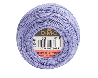 DMC Perle Cotton, Size 8, DMC 30, Med Blueberry, Pearl Cotton Ball, Embroidery Thread, Punch Needle, Embroidery, Penny Rug, Sewing Accessory