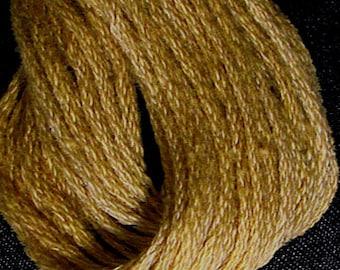 Valdani, 6 Strand Cotton Floss, 852, Antique Gold Medium, Embroidery Floss, Variegated Floss, Hand Dyed Floss, Wool Applique, Punch Needle