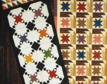 Quilt Pattern, Scraps N Stars, Primitive Decor, Quilted Table Runner, Cottage Decor, Pieced Table Runner, Snuggles Quilts, PATTERN ONLY