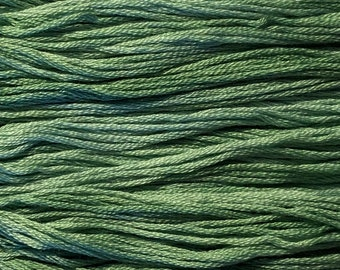 Gentle Art, Sampler Threads, Silver Fern, #0114, 10 YARD Skein, Embroidery Floss, Counted Cross Stitch, Hand Embroidery Thread