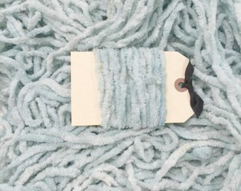 Chenille Trim, Robin Egg, Lady Dot Creates, Chenille, Hand Dyed Chenille, Cotton Chenille, Sewing Notion, Sewing Accessory, Sewing Trim