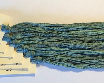 Classic Colorworks, Tartan Plaid, CCT-073, 5 YARD Skein, Hand Dyed Cotton, Embroidery Floss, Counted Cross Stitch, Embroidery Thread