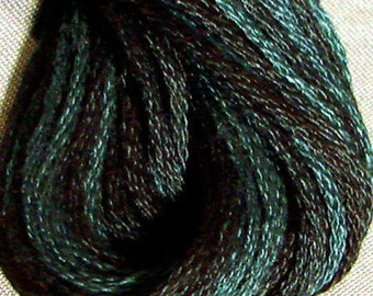 Valdani, 6 Strand Cotton Floss, O572, Blue Blackbird, Embroidery Floss, Variegated Floss, Hand Dyed Floss, Wool Applique, Punch Needle