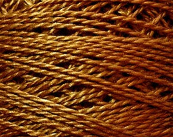 Valdani Thread, Size 8, 853, Antique Gold, Perle Cotton, Punch Needle, Embroidery, Penny Rugs, Primitive Stitching, Sewing Accessory