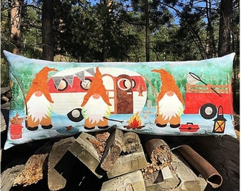 Quilt Pattern, Gnome is Where You Park It, Bench Pillow, Table Runner, Camping Gnomes, Summer Decor, JoAnn Hoffman, PATTERN ONLY