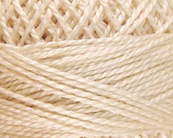 Valdani Thread, Size 8, 005, Valdani Perle Cotton, Light Ecru, Punch Needle, Embroidery, Penny Rugs, Primitive Stitching, Sewing Accessory