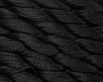 DMC Pearl Cotton, Size 5, DMC 310, Black, Embroidery Thread, Punch Needle, Penny Rugs, Primitive Stitching, Sewing Accessory