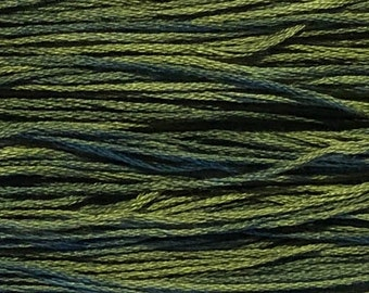 Weeks Dye Works, Seaweed, WDW-2159, 5 YARD Skein, Cotton Floss, Embroidery Floss, Counted Cross Stitch, Hand Embroidery, PunchNeedle