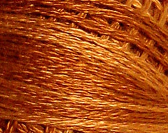 Valdani Thread, Size 8, O217, Perle Cotton, Yummy Pumpkin, Punch Needle, Embroidery, Penny Rugs, Primitive Stitching, Sewing Accessory