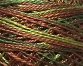 Valdani Thread, Size 8, M78, Valdani Perle Cotton, Copper Leaf, Punch Needle, Embroidery, Penny Rugs, Primitive Stitching, Sewing Accessory