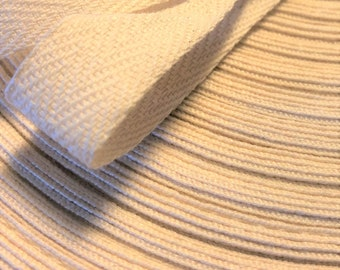 """Twill Tape, Natural, 1/2"""" Cotton Twill Tape, Herringbone, Lightweight Twill Tape, Herringbone Twill Pattern, Valley Products, Sewing Trims"""