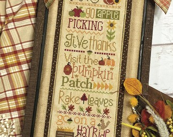 Counted Cross Stitch, Autumn Rules, Fall Decor, Thanksgiving, Autumn Decor, Lindsey Weight, Primrose Cottage Stitches